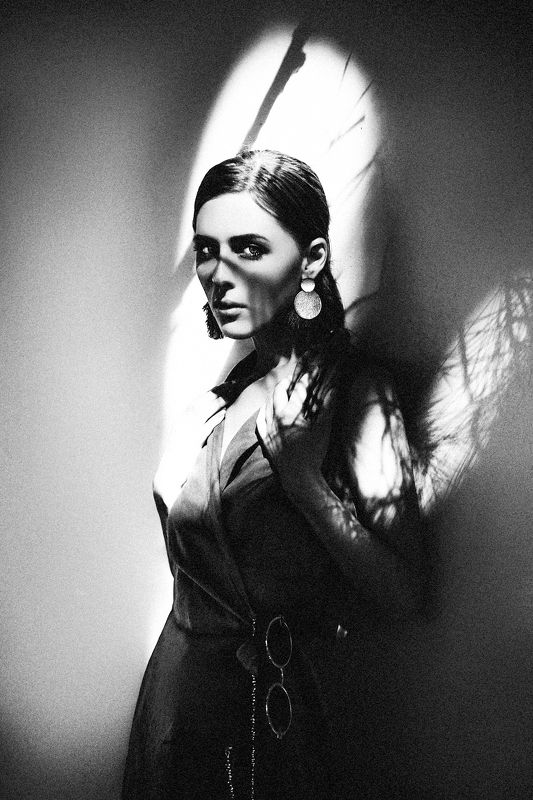 woman, art, portrait, fashion, beauty, black and white, travel, shadows Shadows of Lefkaraphoto preview