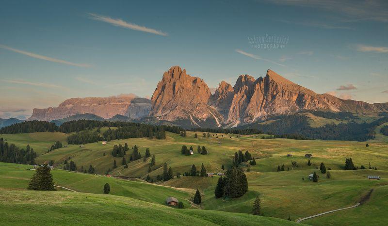 плато, доломиты, август, alpedisiusi, italy Неудачный закатик на Платоphoto preview