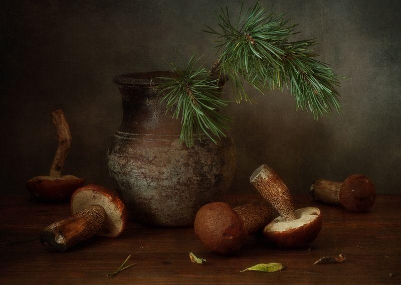 натюрморт,грибы,подосиновики,осень с подосиновиками...photo preview