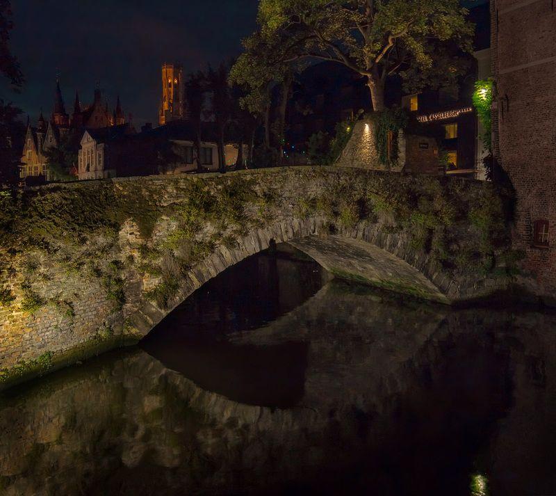 брюгге, бельгия, вечер, ночь, brugge, bruggies Сказочный Брюггеphoto preview