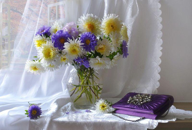 still life,натюрморт,осень, сентябрь, фото натюрморт, астры, цветы, солнечный день, бабье лето, настроение, Любима осень мной своей красой и тишиной хрустальной...photo preview