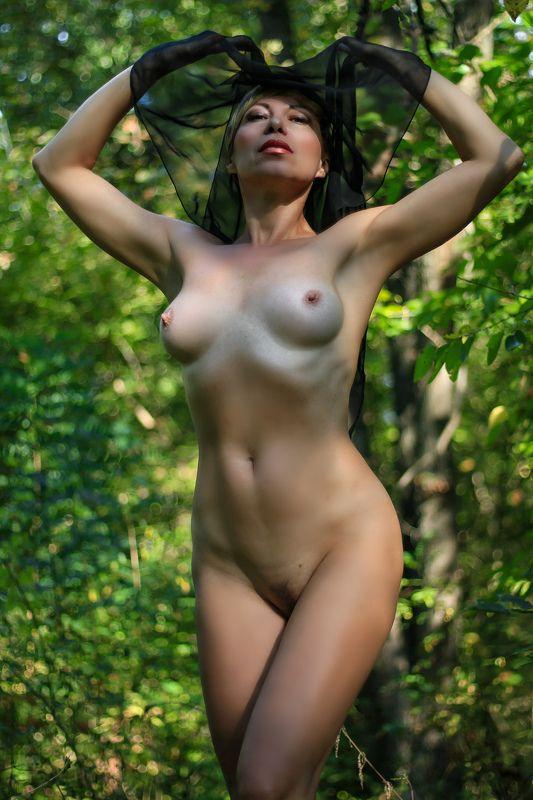 девушка, лес, вуаль... Хозяйка лесаphoto preview