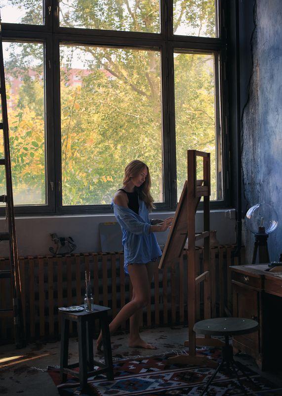 осеннее вдохновение, мастерская художника, ната, живопись, золотая осень Осеннее вдохновение.photo preview