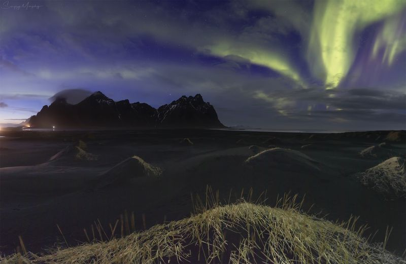 vestrahorn. iceland. When night meets day. Vestrahorn. Iceland.photo preview