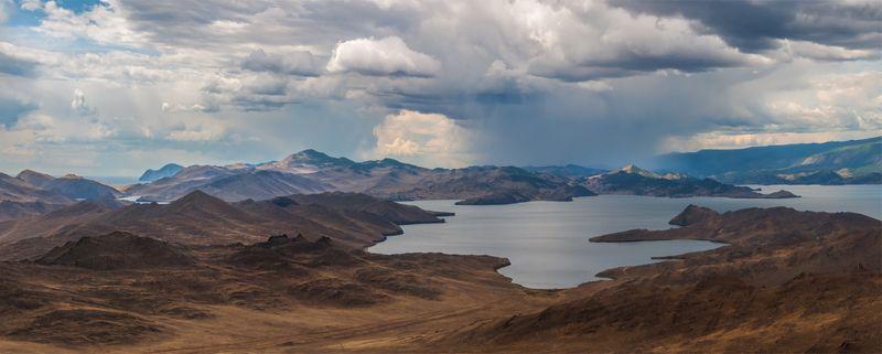 природа, пейзаж, озеро, байкал, сибирь, остров, ольхон, дождь, лето, панорам, Проливphoto preview