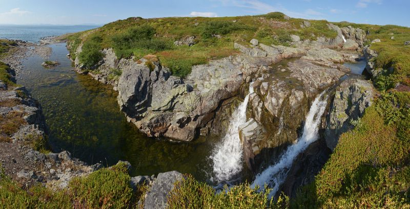 полуостров рыбачий, баренцево море, мотовский залив Водопадикиphoto preview