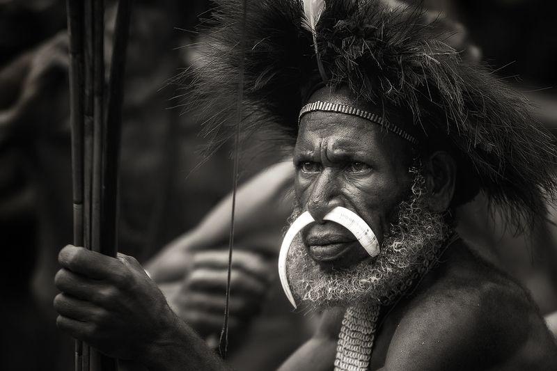 kanibal,papua PAPUA - POTOMKOWIE  KANIBALIphoto preview
