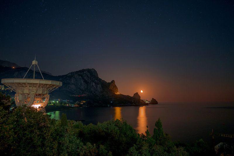 ночь, телескоп, крым, море Южная ночьphoto preview