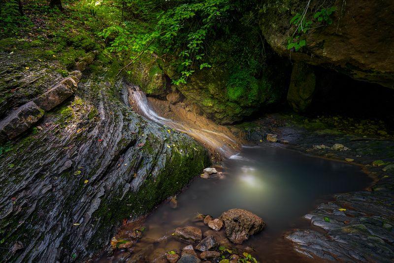 адыгея, водопад, руфабго Изгибы Мезмайского Водопадаphoto preview