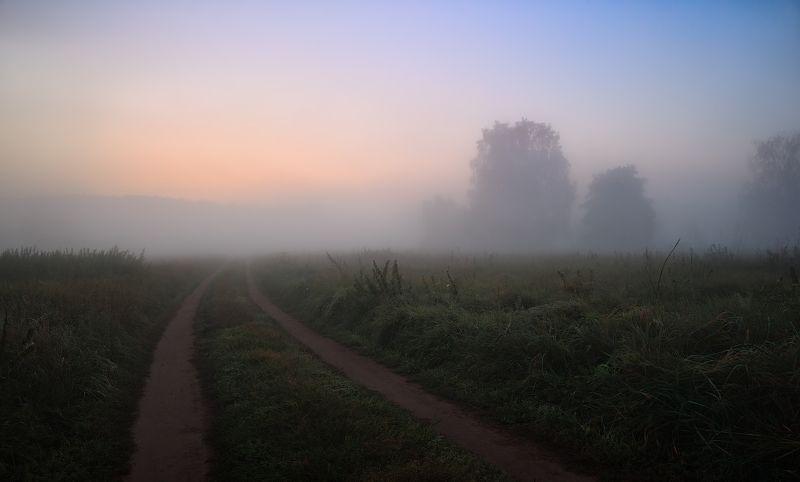 рассвет, поле, дымка, Тишинаphoto preview