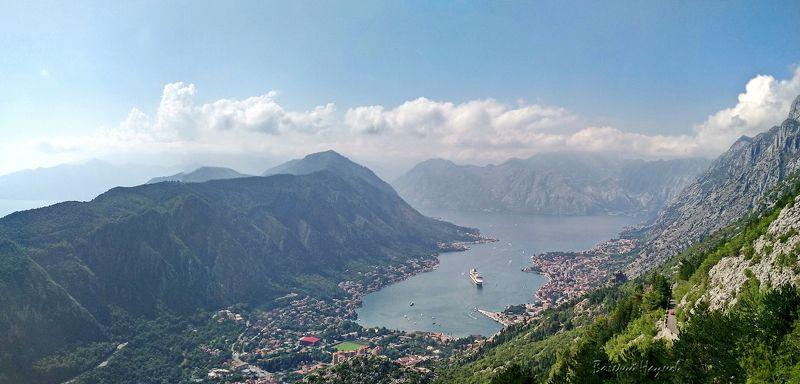черногория, котор, боко-которская бухта, лайнер, лето, адриатика Которская бухтаphoto preview