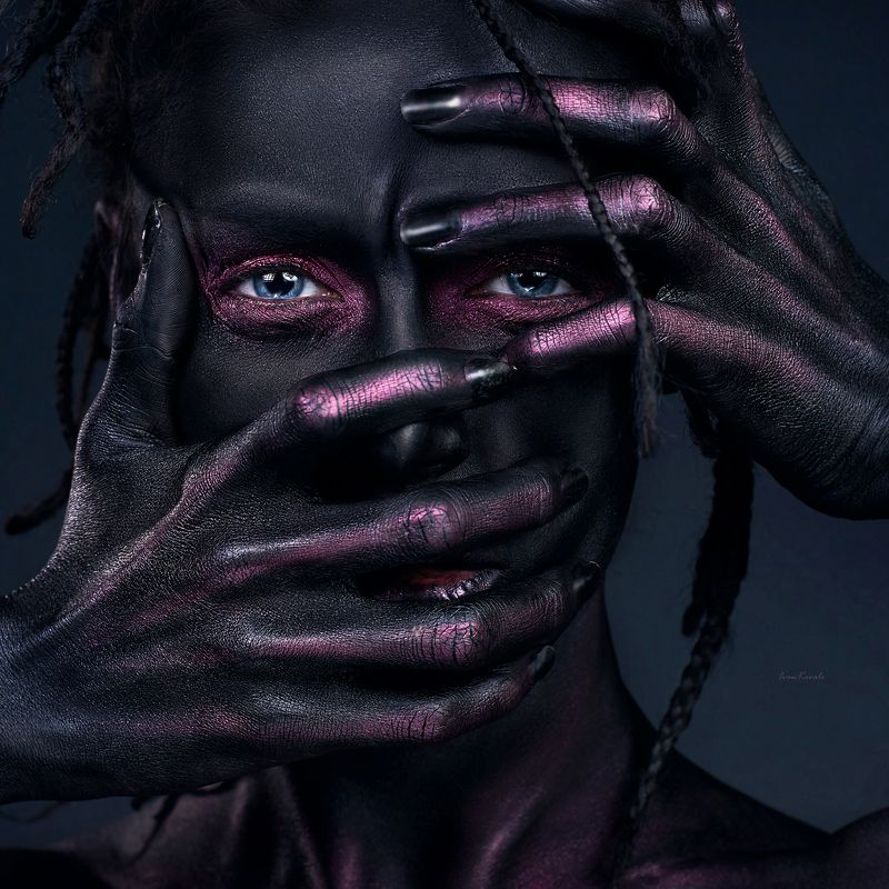 портрет, арт, фейсарт, лицо, взгляд, глаза, руки, ivankovale The silencephoto preview