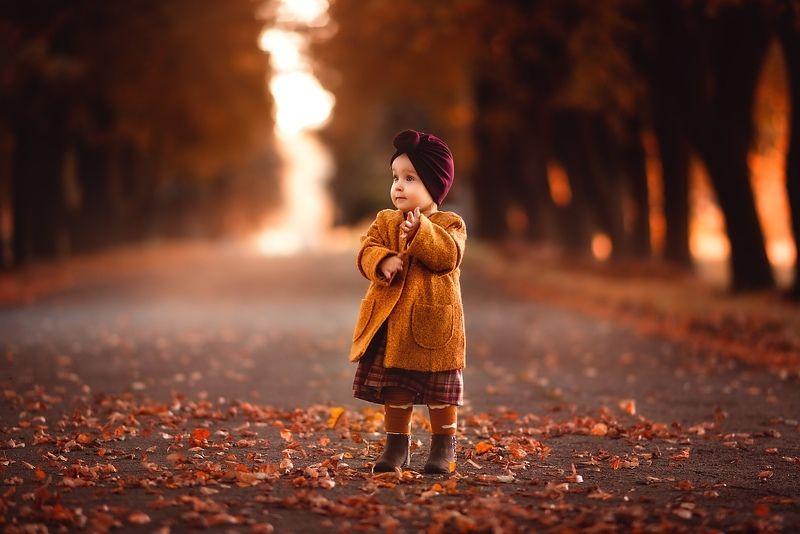 девочка, малышка, модная малышка, осень, осенняя съемка Настроение - осень :)photo preview
