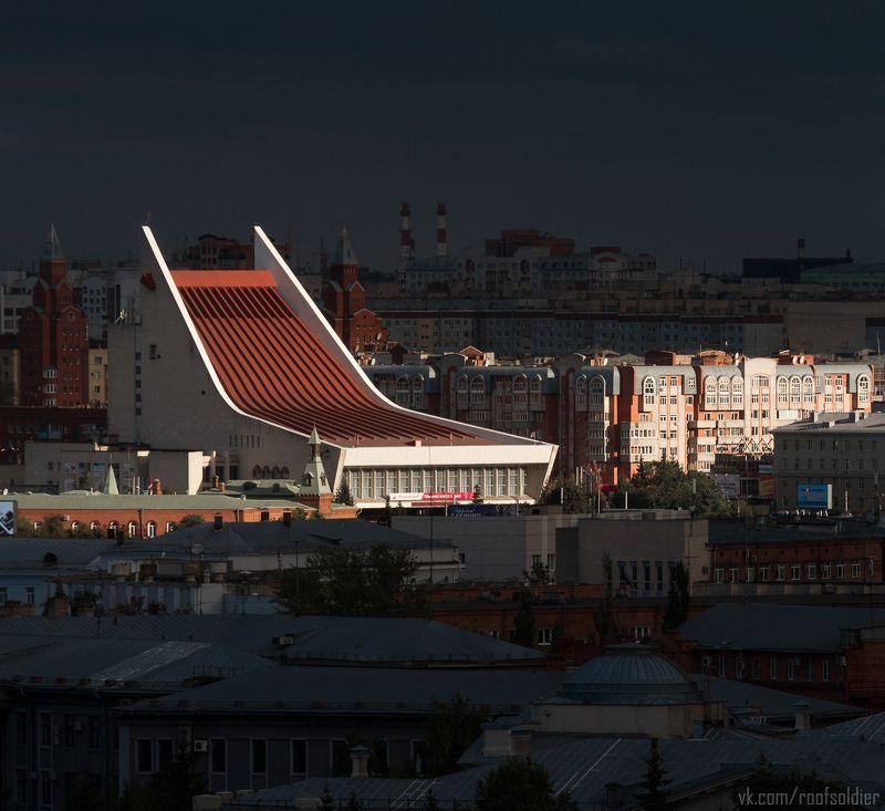 Омск, Россия, город, крыша, пейзаж, театр, Urban Exploration Лучphoto preview
