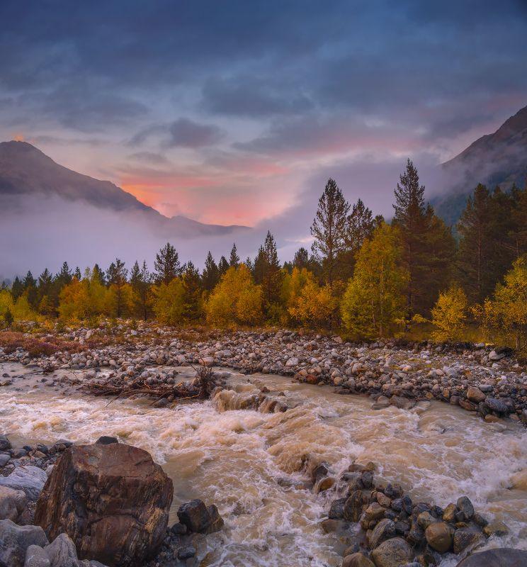 осень,вечер,река,шаурту,чегем,кбр Осенние туманы у речки Шауртуphoto preview