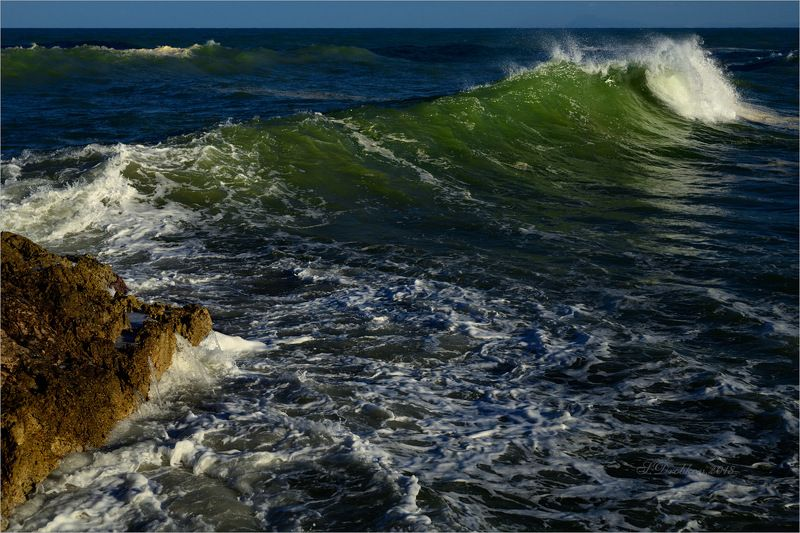 море, волны, закат, пейзаж Последний лучphoto preview