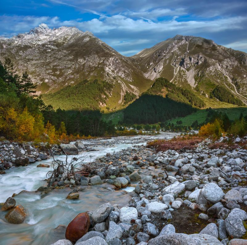 осень,горы,река,утро,чегем,кбр Осеннее утроphoto preview