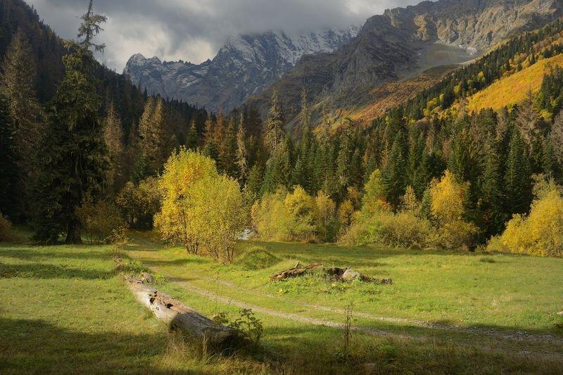 горы осень домбай Осеннее утроphoto preview