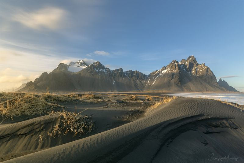 soft light. vestrahorn. iceland. Soft light & Vestrahorn. Iceland.photo preview