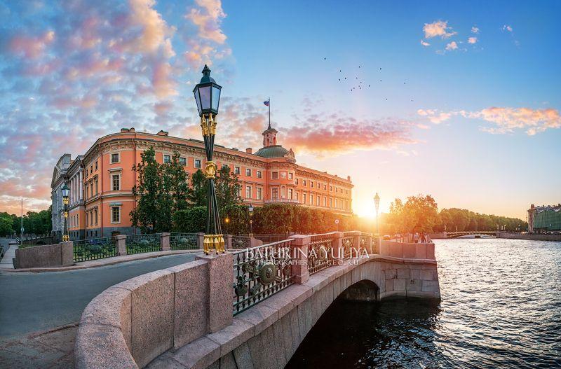 санкт-петербург, михайловский замок, закат Инженерный замокphoto preview