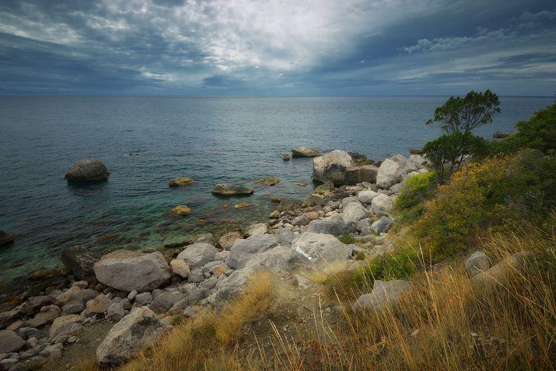 крым, черное море, природа, море, лето, вечер photo preview