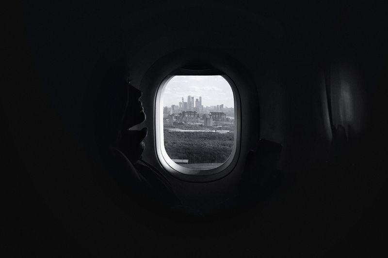 москва, самолет, аэропорт, чб, черно-белое Человек на лунеphoto preview
