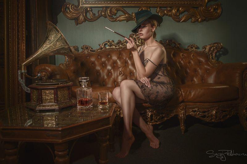 портрет, гламур, ретро, студияцитадель, девушка, model, portrait Старая пластинкаphoto preview