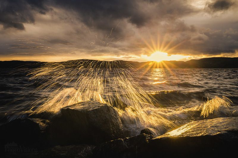 water, longexposure, lake, lakeside, norway, sunset, light, goldenhour, watersplash, dramatic, weather,  Water fireworksphoto preview