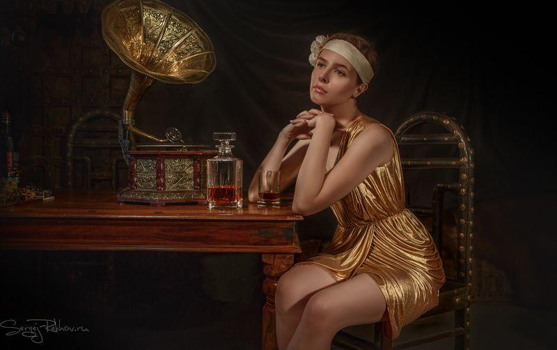 портрет, гламур, ретро, студияцитадель, девушка, model, portrait---- Старая пластинкаphoto preview