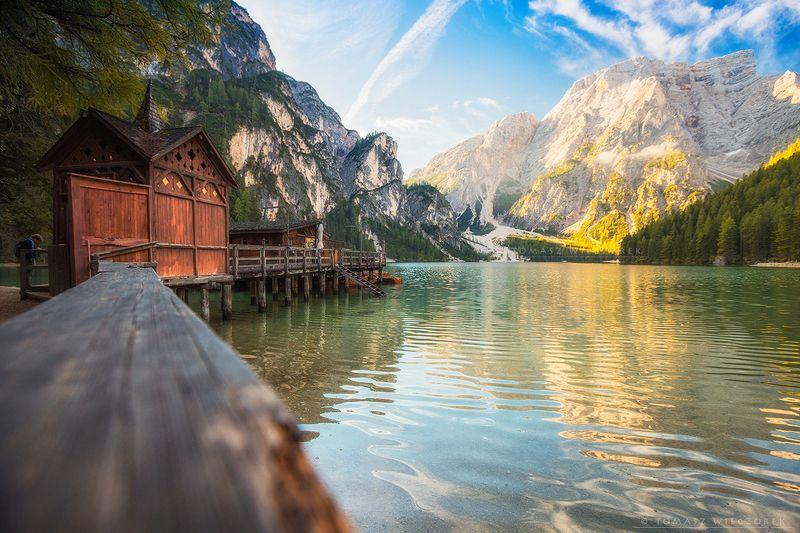 italy, italia, dolomiti, dolomites, lagodibraies, landscape, amore, mountains, sunrise, sunset, light, travel, adventure, morning Good morning from Italyphoto preview