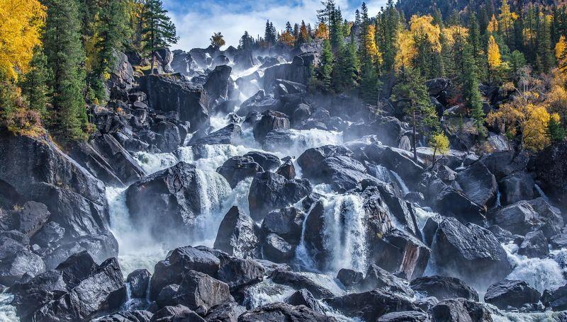 горы Алтай  Водопад   Учарphoto preview