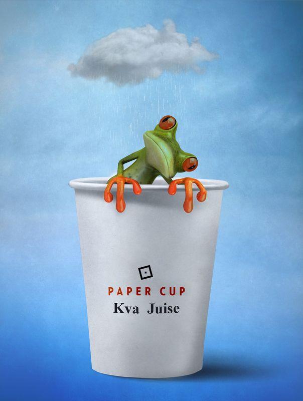стакан, лягушка, облако *******photo preview