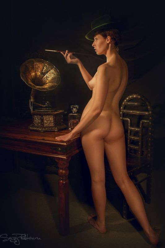 ню, sexy, nude, beauty, rekhov Старая пластинкаphoto preview