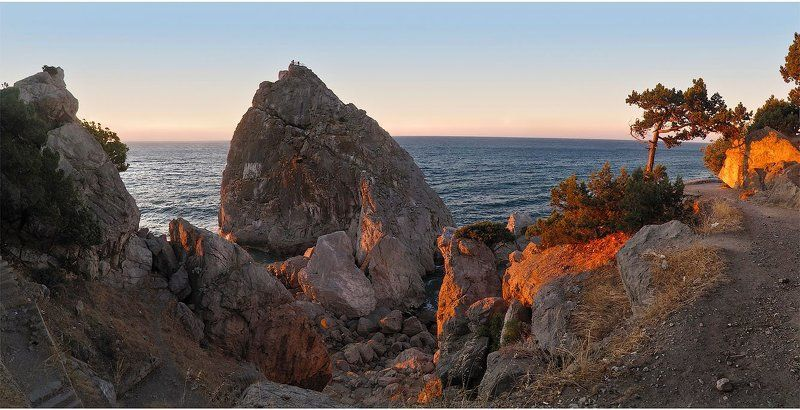 восход, солнца, симеиз, гора, дива, море свет пошелphoto preview
