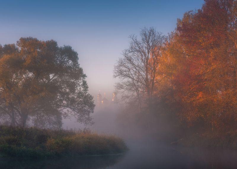 пейзаж, истра, рассвет, туман, утро, россия, природа, Осенняя пора, очей очарованье...photo preview