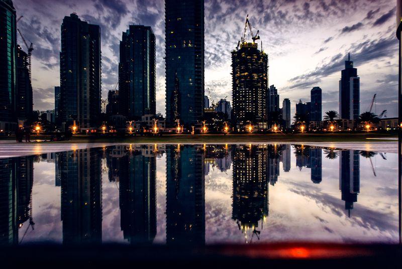 cityscape, dubai, travel, reflection Double Cityphoto preview
