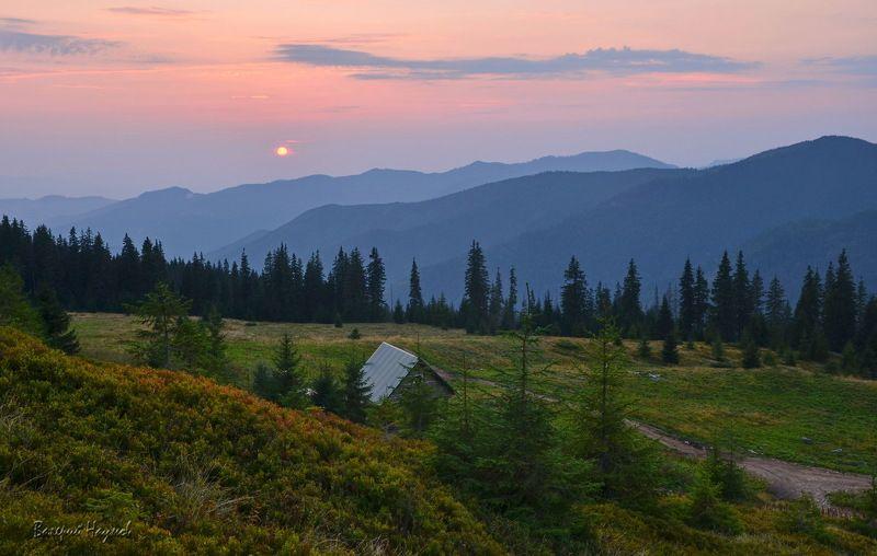 карпаты, горы, мармаросский массив, вечер, закат В последний вечер летаphoto preview