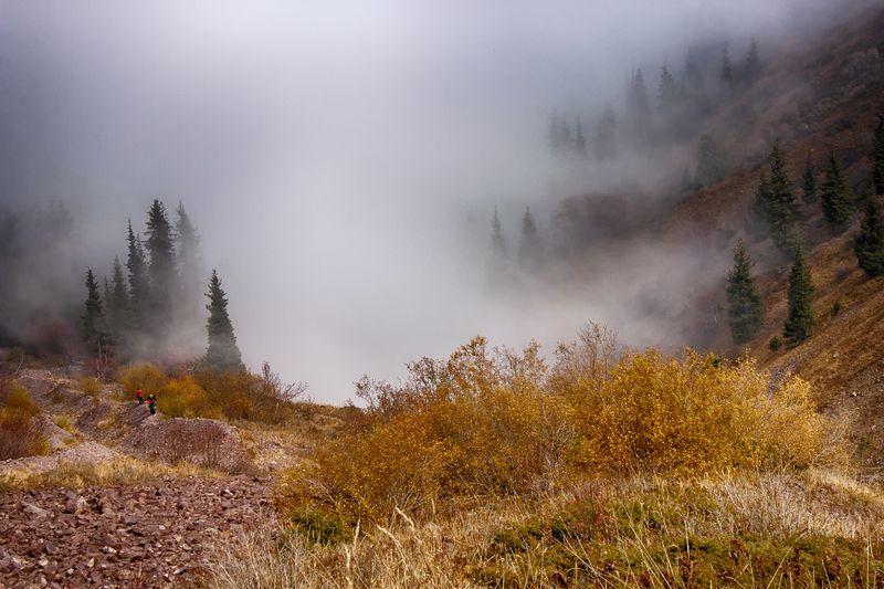 горы, кыргызстан Магия туманаphoto preview