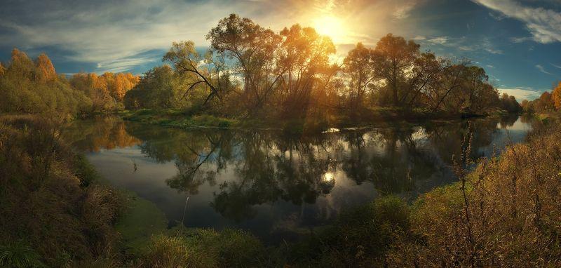 вода, истра, подмосковье, осень, золотая осень Осенняя Истраphoto preview