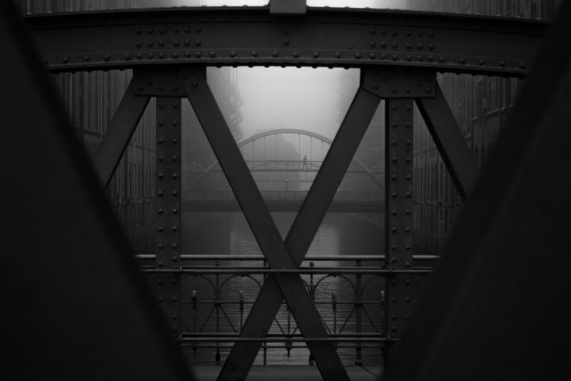 bridge, water, person, urban, street, fog, haze, mist Xphoto preview