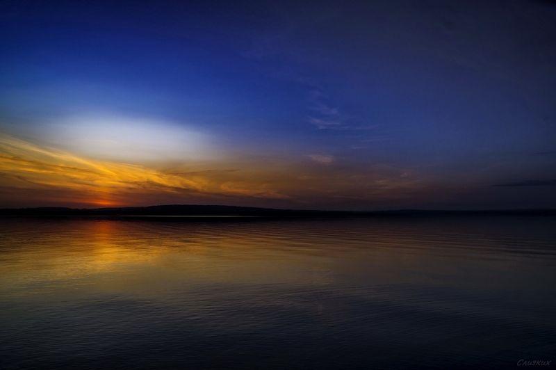 пейзаж,закат,краски,октябрь,озеро,осень,небо Вот такой закатphoto preview