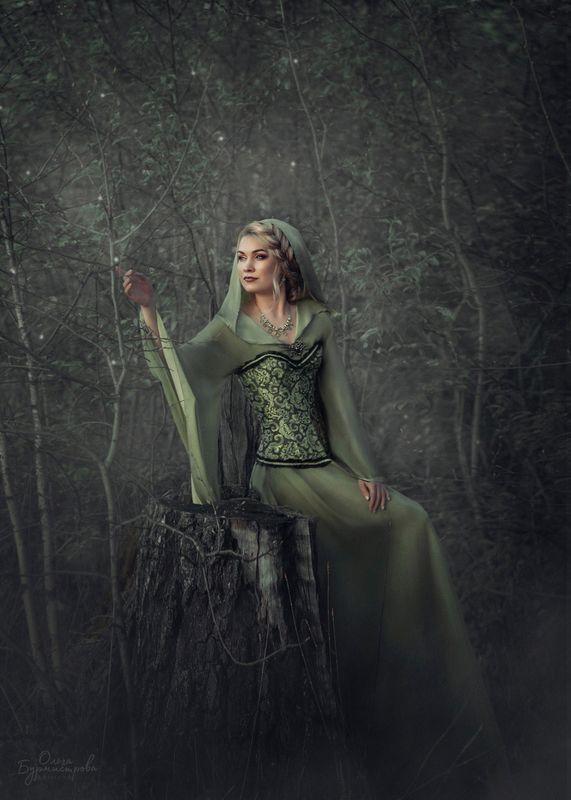 фото в образе, тематическое фото, лесная нимфа, сказка, эльфы Эльфийкаphoto preview