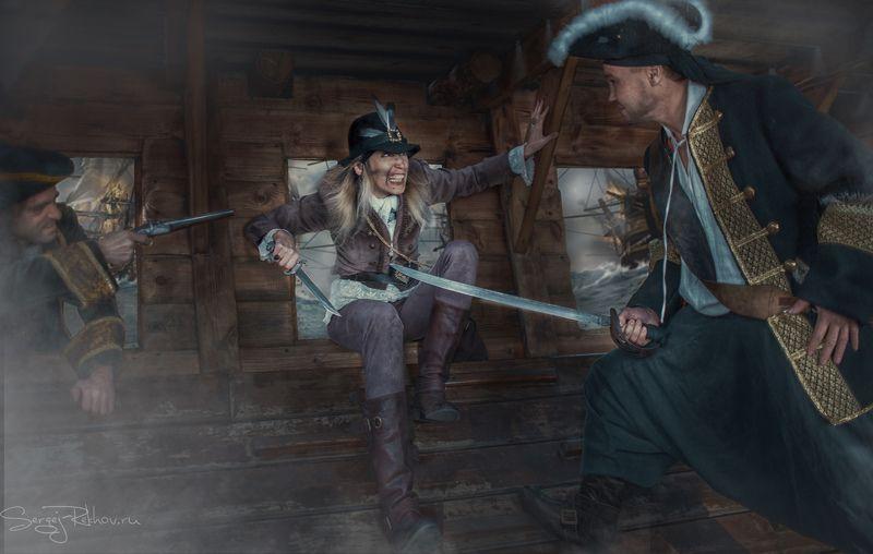 жанр, пираты, бой, корабль, разбойники, rekhov Разбойникиphoto preview