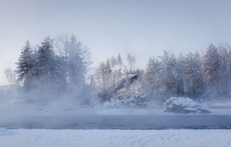 Новогодняя Катунь ( район п. Рыбалка)photo preview