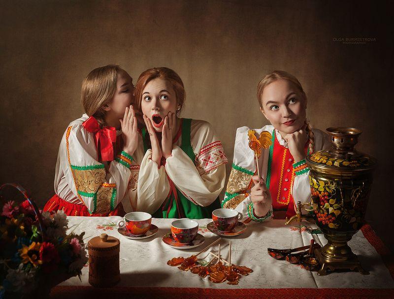 фотовобразе, алярус, русскийстиль, бурмистровафото Сплетницыphoto preview