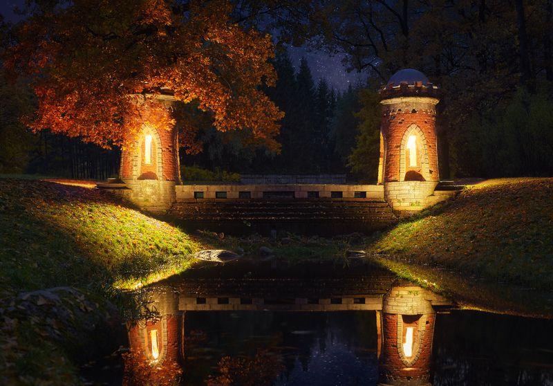 пушкин, екатерининский парк, красный каскад, подсветка Волшебные сны Турецкого каскадаphoto preview