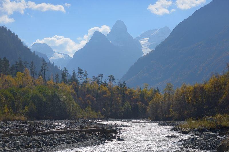горы, осень, архыз, утро Такмак в горах Кавказаphoto preview