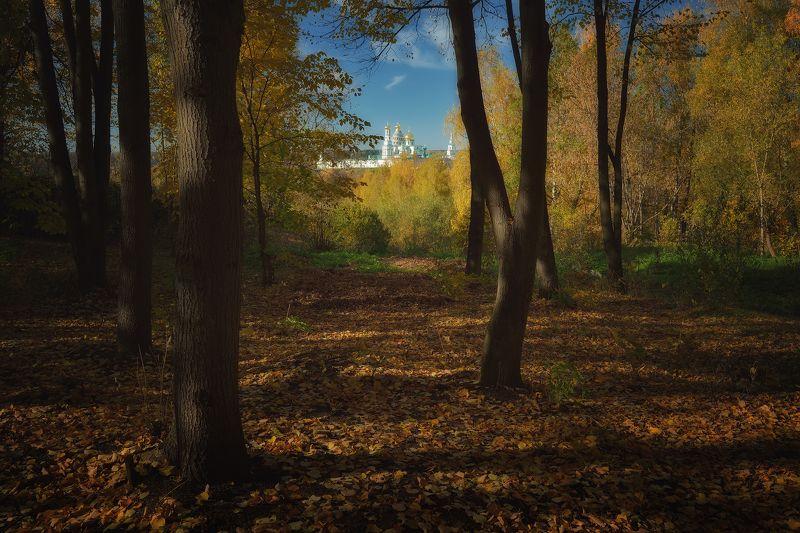 осень, краски, парк, истра Вид на монастырьphoto preview
