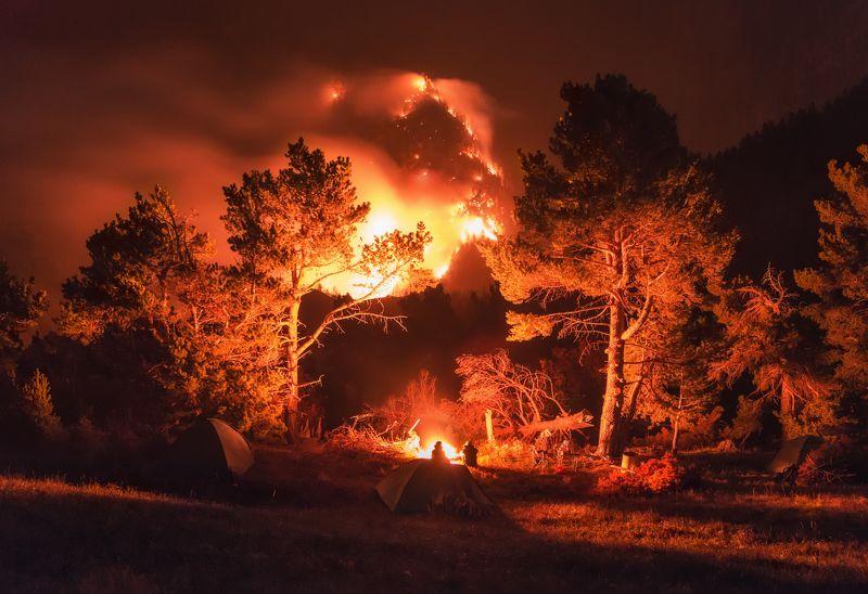 дагестан Дагестан. Лесной пожар.photo preview