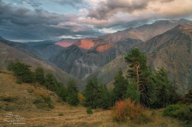 дагестан, кавказ Вечер в горах Дагестанаphoto preview